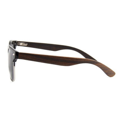 Browline RetroShade Black - Real Ebony Zebrawood Sunglasses