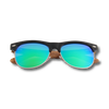 Browline RetroShade Green Blue - Real Ebony Zebrawood Sunglasses