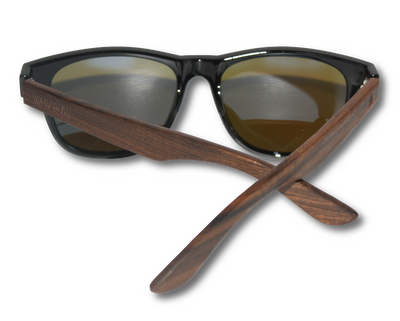 Wanderer Blue - Real Ebony Wood Sunglasses