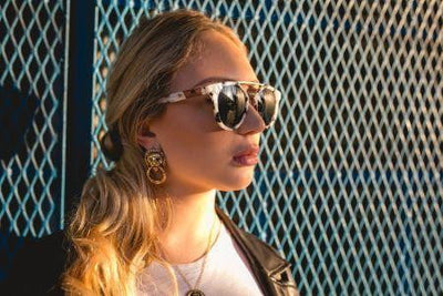 CRESCENT CITY PEARL TORTOISE Sustainable Sourced Wooden Sunglasses - HighStreetPop