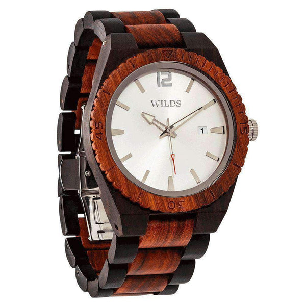 Men Custom Engraved Wooden Watch Ebony & Rose - Personalize Your Watch - HighStreetPop