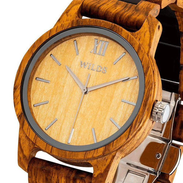 Handmade Engraved Wooden Watches Ambila Timepiece - Your Own Message - HighStreetPop
