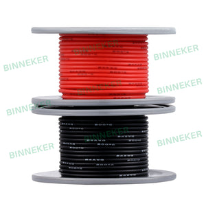 25 ft 18 AWG Gauge Silicone Wire Spool Fine Strand Tinned Copper Black