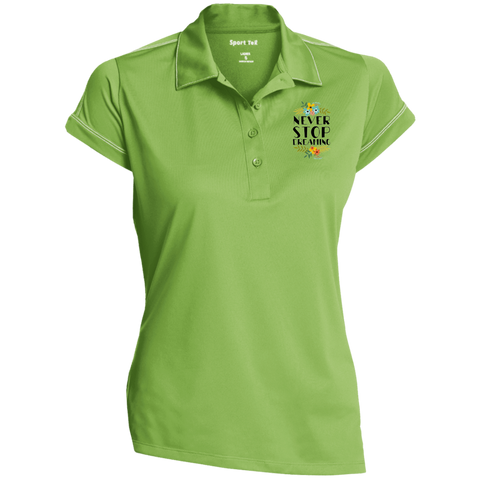 Never Stop Dreaming Polo Shirt Ladies' Contrast Stitch Performance Polo