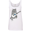 Image of Funny Cat Shirts 882L Anvil Ladies' 100% Ringspun Cotton Tank Top