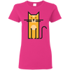 Image of Cosmic Cat T Shirt G500L Gildan Ladies' 5.3 oz. T-Shirt