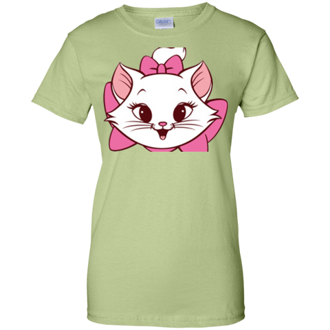 White Cat Shirt G200L Gildan Ladies' 100% Cotton T-Shirt