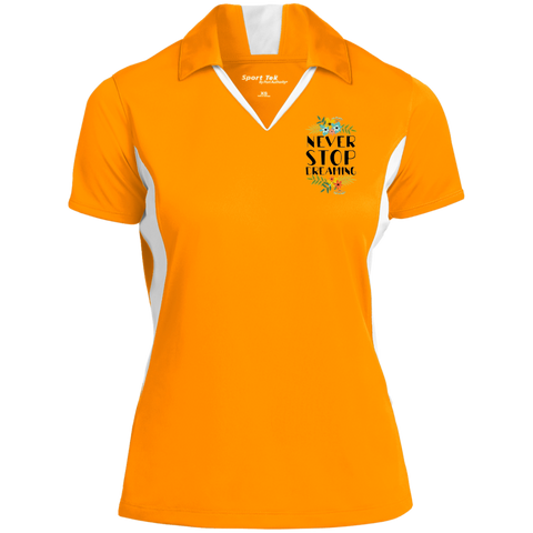 Never Stop Dreaming Polo Shirt Ladies' Colorblock Performance Polo