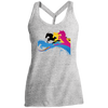 Image of Amazing Horse Shirt DM466 District Made Ladies Cosmic Twist Back Tank