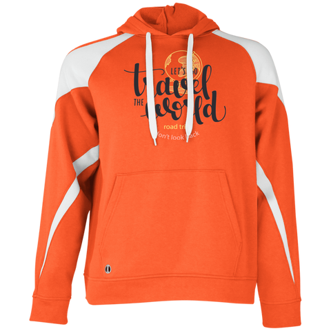 Let's Go Travel The World T-Shirt 229546 Holloway Colorblock Hoodie