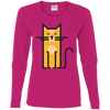 Image of Cosmic Cat T Shirt G540L Gildan Ladies' Cotton LS T-Shirt