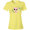 Image of Colorful Cat Shirt 880 Anvil Ladies' Lightweight T-Shirt 4.5 oz