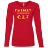 Image of Womens Cat Shirt Ladies' Lightweight LS T-Shirt