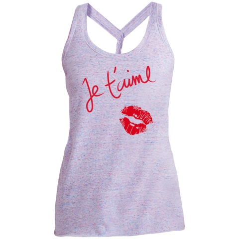 Je t'aime DM466 District Made Ladies Cosmic Twist Back Tank