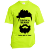 Image of Grow A Beard Then We'll Talk USA100 Port & Co. Made in the USA Unisex T-Shirt