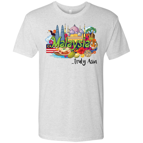 Malaysia Truly Asia T-Shirt NL6010 Next Level Men's Triblend T-Shirt