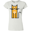 Image of Cosmic Cat T Shirt G640L Gildan Softstyle Ladies' T-Shirt