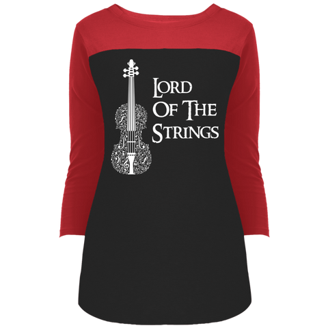 Lord Of The Strings T-Shirt DT2700 District Juniors' Rally 3/4 Sleeve T-Shirt