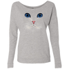 Image of Cat Face T-Shirt NL6931 Next Level Ladies' French Terry Scoop