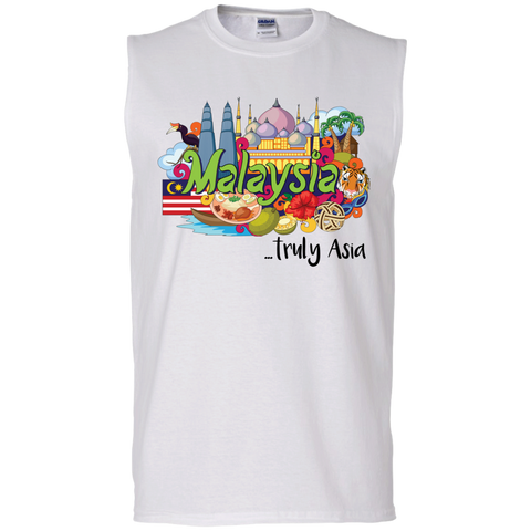 Malaysia Truly Asia T-Shirt G270 Gildan Men's Ultra Cotton Sleeveless T-Shirt