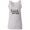 Image of Let's Go Travel The World T-Shirt G642L Gildan Ladies' Softstyle Fitted Tank