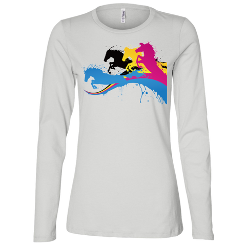 Amazing Horse Shirt B6450 Bella + Canvas Ladies' Jersey LS Missy Fit
