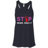 Image of Stop Animal Cruelty B8800 Bella + Canvas Flowy Racerback Tank