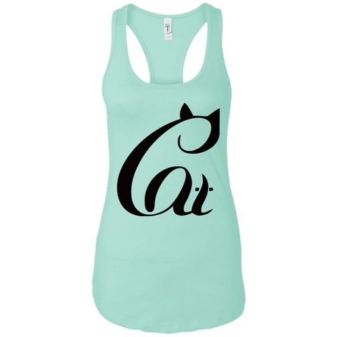 Black And White Cat Shirt NL1533 Next Level Ladies Ideal Racerback Tank
