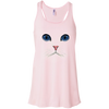 Image of Cat Face T-Shirt B8800 Bella + Canvas Flowy Racerback Tank
