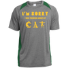 Image of Cat Tee Shirts For Sale Colorblock Poly T-Shirt