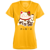 Image of Lucky Cat T Shirt 1790 Augusta Ladies' Wicking T-Shirt