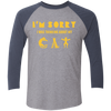 Image of Shirt With Cat On It 3/4 Sleeve Baseball Raglan T-Shirt