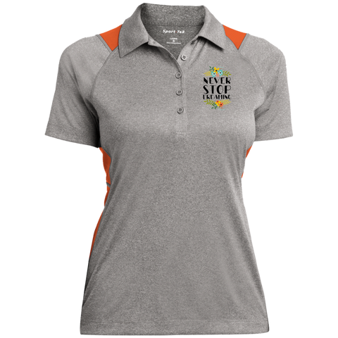 Never Stop Dreaming Polo Shirt Ladies' Heather Moisture Wicking Polo