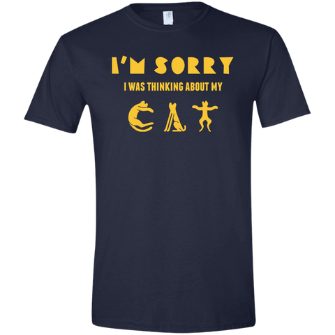 Funny Cat T Shirts For Guys Softstyle T-Shirt