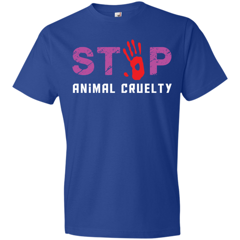 Stop Animal Cruelty 980 Anvil Lightweight T-Shirt 4.5 oz