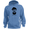 Image of Grow A Beard Then We'll Talk ST265 Sport-Tek Sleeve Stripe Sweatshirt with Jersey Lined Hood