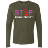 Image of Stop Animal Cruelty NL3601 Next Level Men's Premium LS