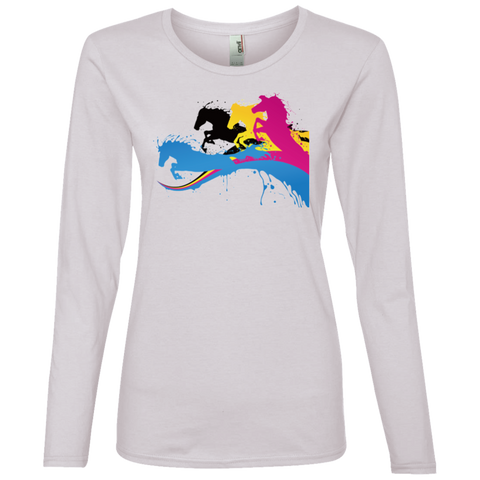 Amazing Horse Shirt 884L Anvil Ladies' Lightweight LS T-Shirt