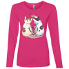 Image of Cool Cat Shirts 884L Anvil Ladies' Lightweight LS T-Shirt