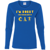 Image of Cat T-Shirt G540L Gildan Ladies' Cotton LS T-Shirt
