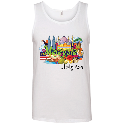 Malaysia Truly Asia T-Shirt 986 Anvil 100% Ringspun Cotton Tank Top