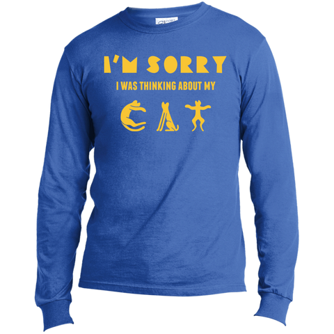 Funny Cat Tee Shirts LS Made in the US T-Shirt