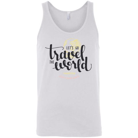 Let's Go Travel The World T-Shirt 3480 Bella + Canvas Unisex Tank
