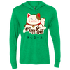 Image of Lucky Cat T Shirt NL6021 Next Level Unisex Triblend LS Hooded T-Shirt