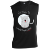 Image of Funny Cat Tee Shirts Sleeveless Performance T-Shirt