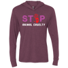 Image of Stop Animal Cruelty NL6021 Next Level Unisex Triblend LS Hooded T-Shirt