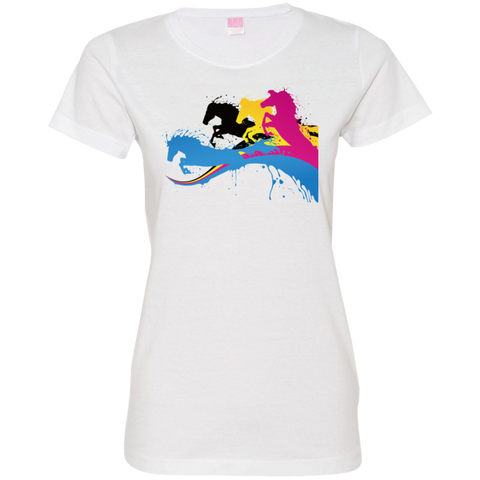 Amazing Horse Shirt 3516 LAT Ladies' Fine Jersey T-Shirt