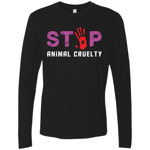 Stop Animal Cruelty NL3601 Next Level Men's Premium LS