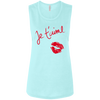 Image of Je t'aime B8803 Bella + Canvas Ladies' Flowy Muscle Tank