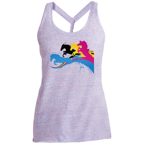 Amazing Horse Shirt DM466 District Made Ladies Cosmic Twist Back Tank